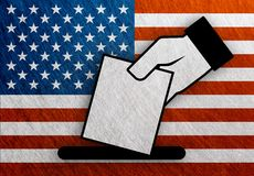 USA, United States of America hand vote stock illustration