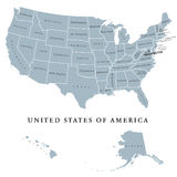 USA United States of America political map Stock Image