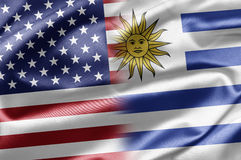 USA and Uruguay Stock Images