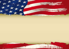 USA used flag. An american grunge flag with a large frame for your message. Ideal to use for a screen Stock Photos