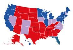 USA val- översikt royaltyfri illustrationer
