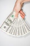USA-valutaräkningar 100 Arkivfoton