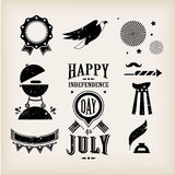USA vector icons. For american independence day Royalty Free Stock Image