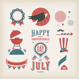 USA vector icons. For american independence day Stock Photo