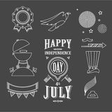 USA vector icons. For american independence day Stock Images