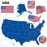 USA vector Set. Stockfotos