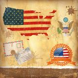 USA vector set. Royalty Free Stock Photography