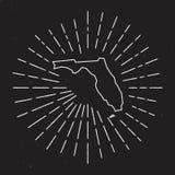 USA-Vektor-Karten-Entwurf mit Weinlese-Sonnendurchbruch Stockfoto