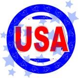 USA-vektorabbildung. amerikanischer Unabhängigkeitstag Lizenzfreies Stockfoto