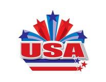 USA-Vektordesign Stockbild