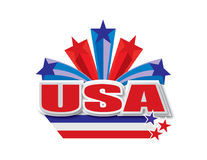 USA-Vektordesign Lizenzfreie Abbildung