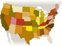USA-vektorkarte Lizenzfreies Stockfoto