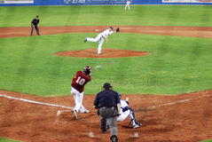 USA-Venezuela baseball game Stock Image