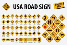 USA-Verkehrsschild - Warnzeichen r stock abbildung
