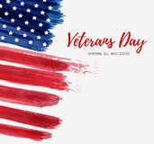 USA Veterans day. Background. Vector abstract grunge brushed flag with text. Template for banner, greeting card, invitation, poster, flyer, etc vector illustration