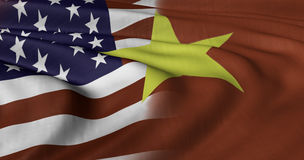 USA & Vietnam Flag Stock Photo