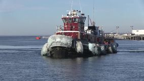 USA Virgina Norfolk, November 2015, Towboat Drive. A towboat drive in a US harbour stock footage