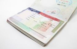 USA Visa isolated Stock Photo
