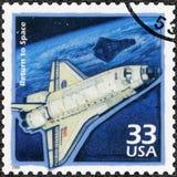 USA - 2000: visa rymdfärjaupptäckten, serie firar århundradet, 90-tal Arkivbilder