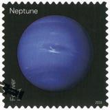 USA - 2016: visar Neptun, seriesikter av våra planeter royaltyfri fotografi