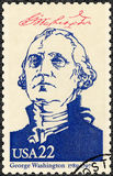 USA - 1986: visar ståenden George Washington (1732-1799), seriepresidenter av USA Royaltyfri Bild