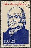 USA - 1986: visar ståenden John Quincy Adams 1767-1848, den sjätte presidenten av USA, seriepresidenter av USA Arkivbild
