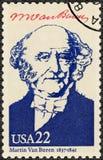 USA - 1986: visar ståenden Martin Van Buren 1782-1862, den åttonde presidenten av USA, seriepresidenter av USA Fotografering för Bildbyråer