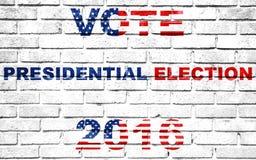 Usa vote election for 2016 written on white wall background Stock Photos