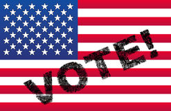 USA Vote Flag Stock Photos