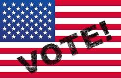 USA Vote Flag Stock Photos
