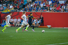 USA vs Australia national teams. FIFA Women's World Cup Stock Images
