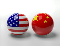 USA Vs. China Royalty Free Stock Photos