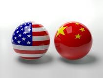 USA Vs. China Royalty Free Stock Photos