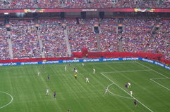 USA vs Japan Final at FIFA Women's World Cup 2015. The match was an eruption of goals between the United States and Japanese. Five goals were scored in the Royalty Free Stock Image