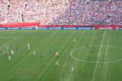 USA vs Japan Final at FIFA Women's World Cup. The match was an eruption of goals between the United States and Japanese. Five goals were scored in the first 30 Stock Photos