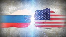 USA vs Russia Stock Photos