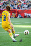 USA vs Sweden national teams. FIFA Women's World Cu Royalty Free Stock Photo