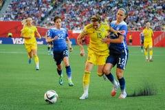 USA vs Sweden national teams. FIFA Women's World Cu Stock Photography
