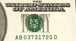 USA-Währungsbanknote Lizenzfreie Stockbilder