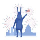 USA-Wahlthema Stockfoto