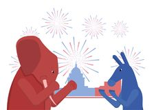 USA-Wahlthema Stockbild