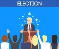 USA-Wahlthema Lizenzfreies Stockbild