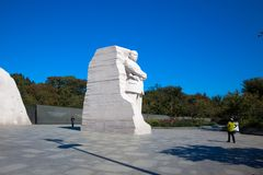Monument Dr. Martin Luther King, Jefferson memorial at sunny day. The statue. USA, WASHINGTON DC stock images