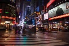 Night street broadway in new york stock photos