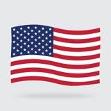 USA waving flag on background stock illustration