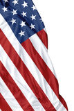USA waving flag on white background Royalty Free Stock Image