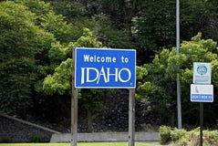 USA_WELCOME TO IDAHO Royalty Free Stock Photography