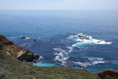 USA West coast. Showing the north pacific ocean in California Stock Images