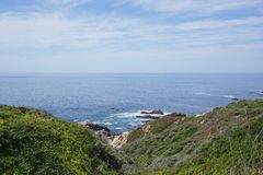 USA West coast. Showing the north pacific ocean in California Stock Photo