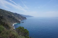 USA West coast. Showing the north pacific ocean in California Stock Image